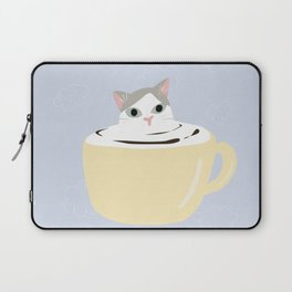 Cat latter art yellow mug Laptop Sleeve
