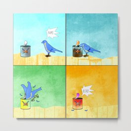 Bird vs. Yams Metal Print