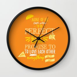Love is the best thing we do Wall Clock