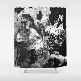 Dark Fluids Shower Curtain