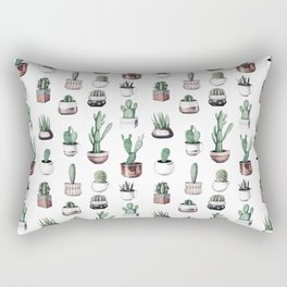 Cactus + Succulents Rose Gold Pattern by Nature Magick Rectangular Pillow