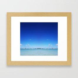 Beach and Sky Framed Art Print