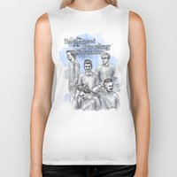 cyrilliart Biker Tanks featuring The Brotherhood of the Traveling Sweater by Cyrilliart