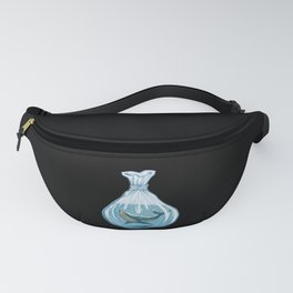 Whales are not free illustration with whale in bag Fanny Pack