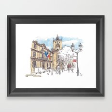 Place de l'Hotel de Ville, Aix-en-Provence Framed Art Print