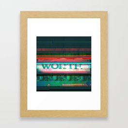WORTH Framed Art Print