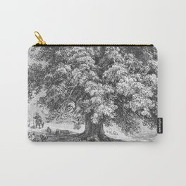 Linden Tree Print from 1800's Encyclopedia Carry-All Pouch