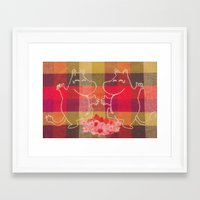 moomin Framed Art Prints featuring Moonin Dance Stitching #1 by Jessica Maria