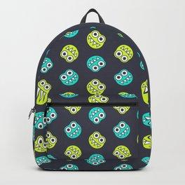 Blue Green Cute Bugs Pattern Backpack