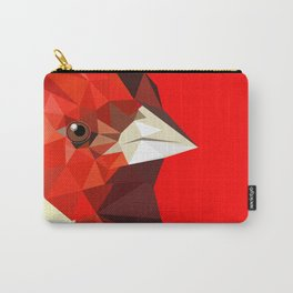 Cardinal bird Geometric bird art Red Nature Carry-All Pouch