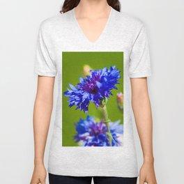 Blue cornflowers in summer Unisex V-Neck