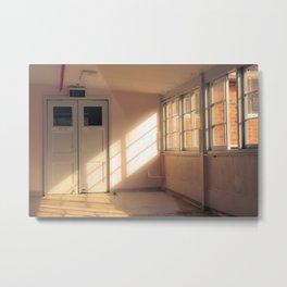 Hospital Hallway Metal Print