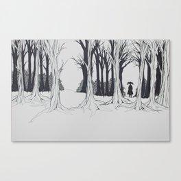 Girl Faces the Future Canvas Print