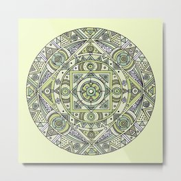 Mandala no.4: The earth Metal Print