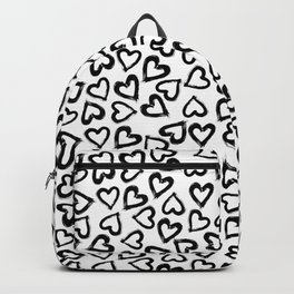Black Ink Hearts Backpack