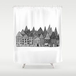 Medieval Village I Shower Curtain