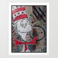 The Cat In The Chicago Hat Art Print