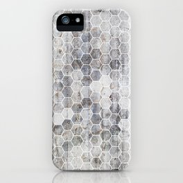 Hexagons - Concrete iPhone Case