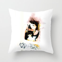 My lovely dog  Throw Pillow