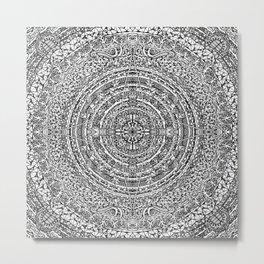 Mandala Dante Inferno Zoom Metal Print