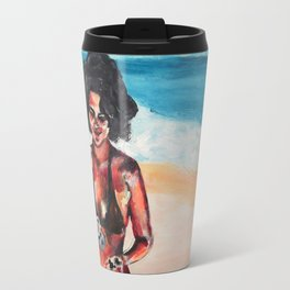 Hawaiian Beach lava rocks Travel Mug