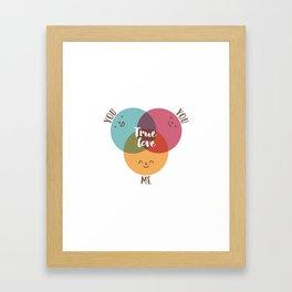 you+you+me Framed Art Print