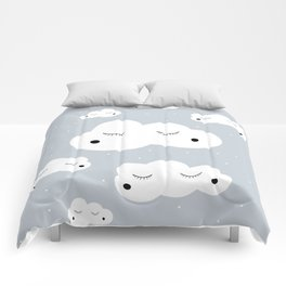clouds and dots Comforters