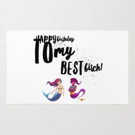 Happy Birthday Bitch Rug