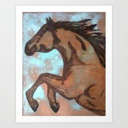 Dream Horse (copper) Art Print