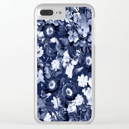 Bohemian Floral Nights in Navy Clear iPhone Case