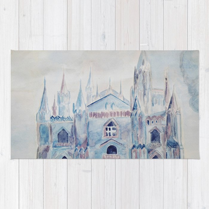 the castle in the clouds Rug