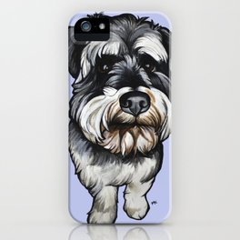 Barney the Miniature Schnauzer iPhone Case