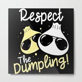 Cool Dumpling Shirt Motif Metal Print