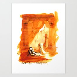 Antony & Cleopatra - Shakespeare Illustration Art Print