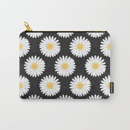 Spring Daisies_Black Carry-All Pouch