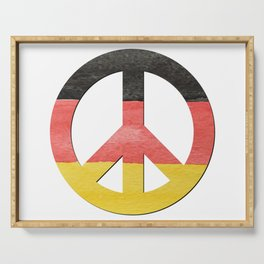 Water Color German Flag CND Peace Symbol Serving Tray