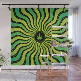 Marijuana energy | Sacred geometry mandala Wall Mural