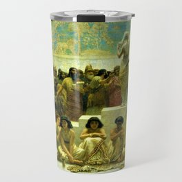 Classical Masterpiece The Slave Market Of Babylon by Edwin Long Travel Mug