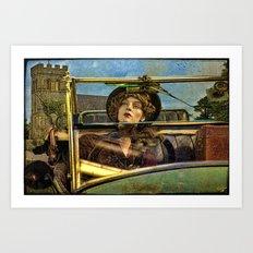 Beware! Mannequin Driver Art Print