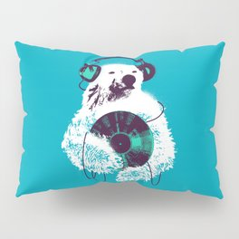 Record Bear Pillow Sham