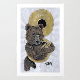 Tuba Bear Art Print
