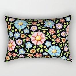 Ditsy Millefiori Pattern Rectangular Pillow