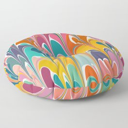 Colorful Abstract Design Floor Pillow