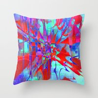 revolution Throw Pillows featuring revolution by David Mark Lane