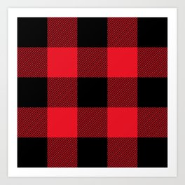 Big Red and Black Buffalo Plaid Art Print