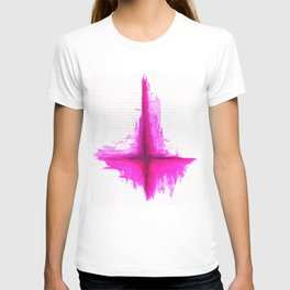 Satanism is better in pink? Inverted Cross T-shirt