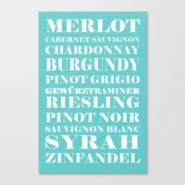 Wines, blue Canvas Print