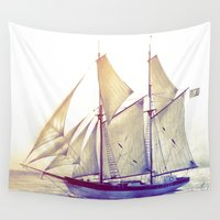 sail Wall Tapestries featuring Afternoon Sail by Thubakabra