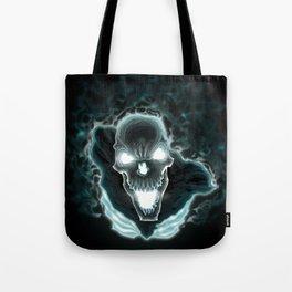 Black skeleton in the dark Tote Bag