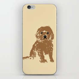 Cockapoo dog art iPhone Skin